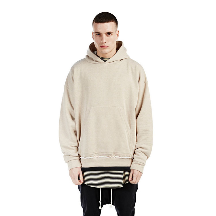 streetwear khaki BEIGE hip hop fashion men hoodies pullover ...