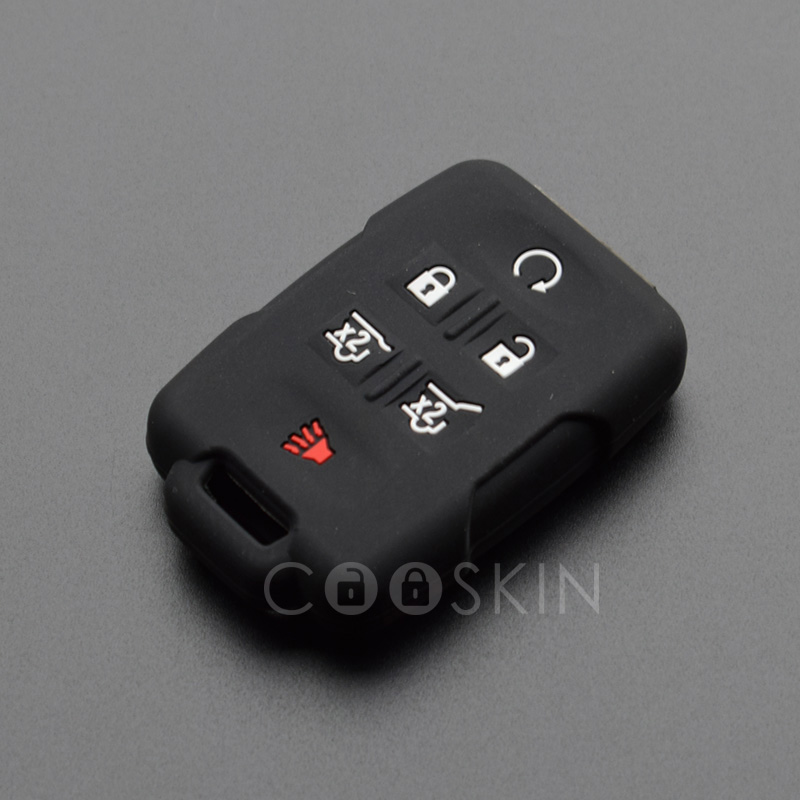 100pcs/lot Silicone rubber key FOB Adhesive Support cover Protect for GMC Yukon Sierra Canyon Terrain Acadia keyless repair-in Key Case for Car from Automobiles & Motorcycles    3