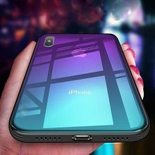 Case For Phone X XS XR MAX Tempered GLASS BACK New Shockproof Hybrid Cover