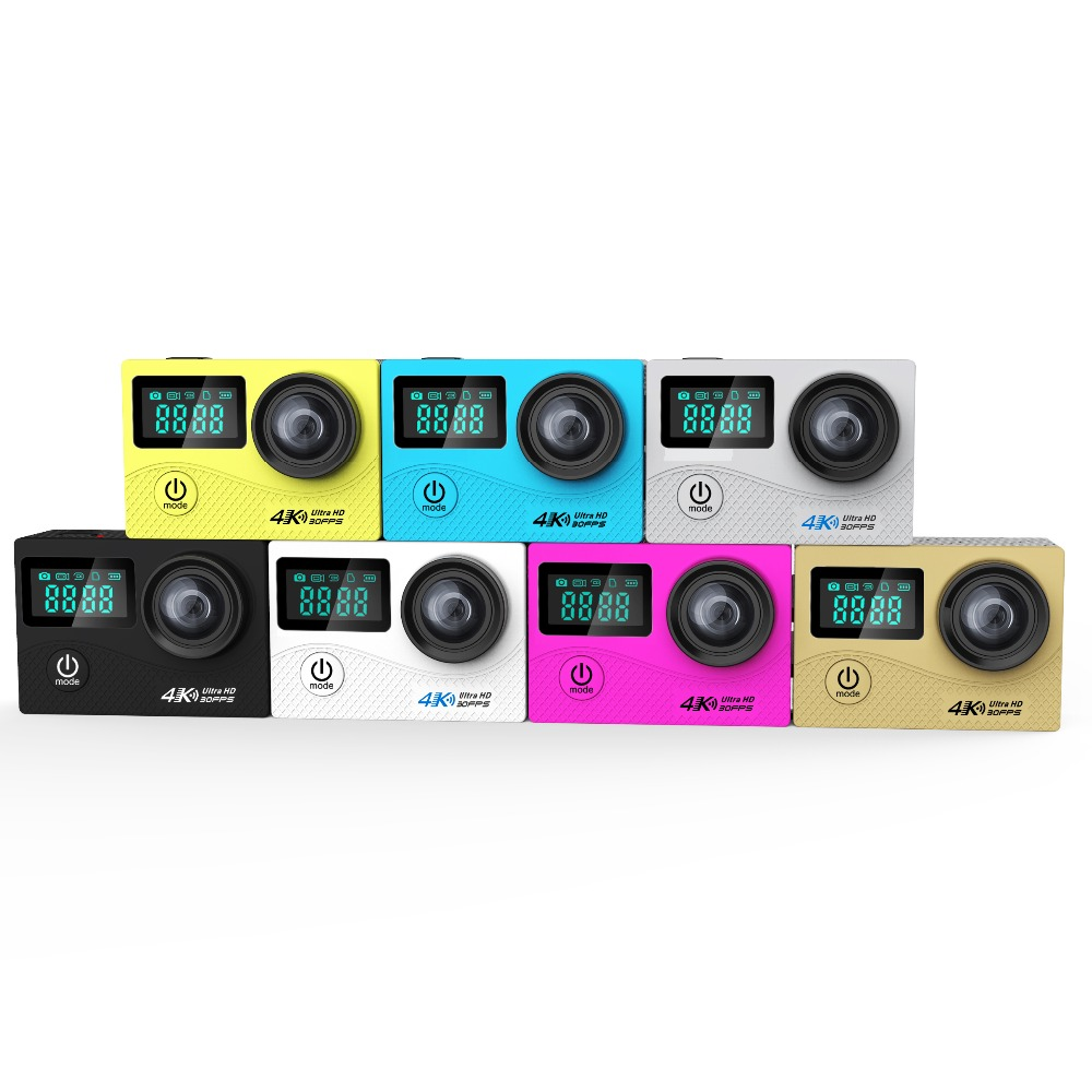 2017 K2 4K Ultra Camera HD 170 Degree Wide View Angle WiFi 2 Screen Action Camera with Allwinner Sport Camera 2017 original eken h9r sports action camera 4k ultra hd 2 4g remote wifi 170 degree wide angle
