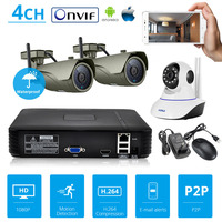 KERUI ONVIF NVR Full HD 4 Channel Security CCTV 1080P NVR 2 0 For IR Night