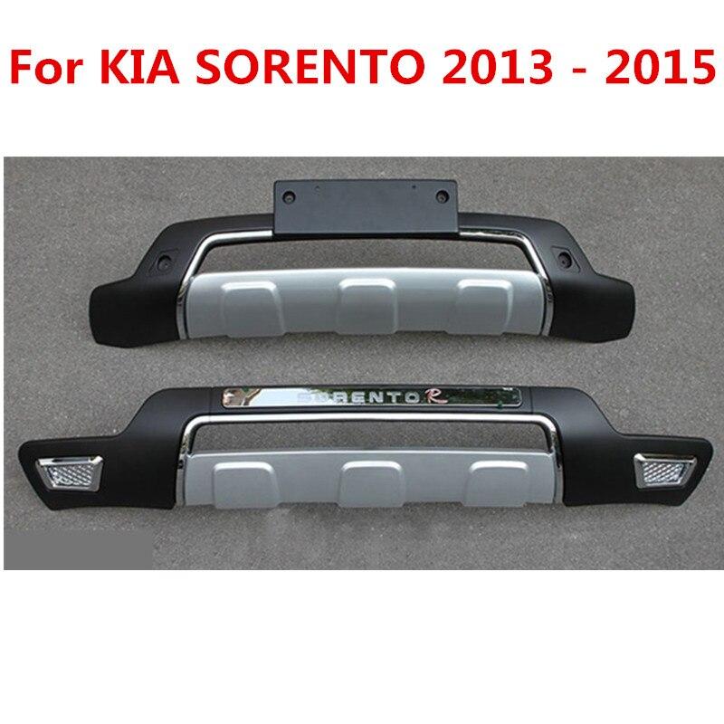 Per KIA SORENTO 2013-2015, Argento Libero di trasporto libero POSTERIORE DELLA PROTEZIONE di SPORT di TIPO RESPINGENTE PROTECTER, styling auto
