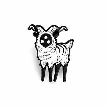 1 PC Enamel Pin Abstrak Tiga Mata Domba Bros Gesper untuk Tas Kerah Pin Lencana Perhiasan