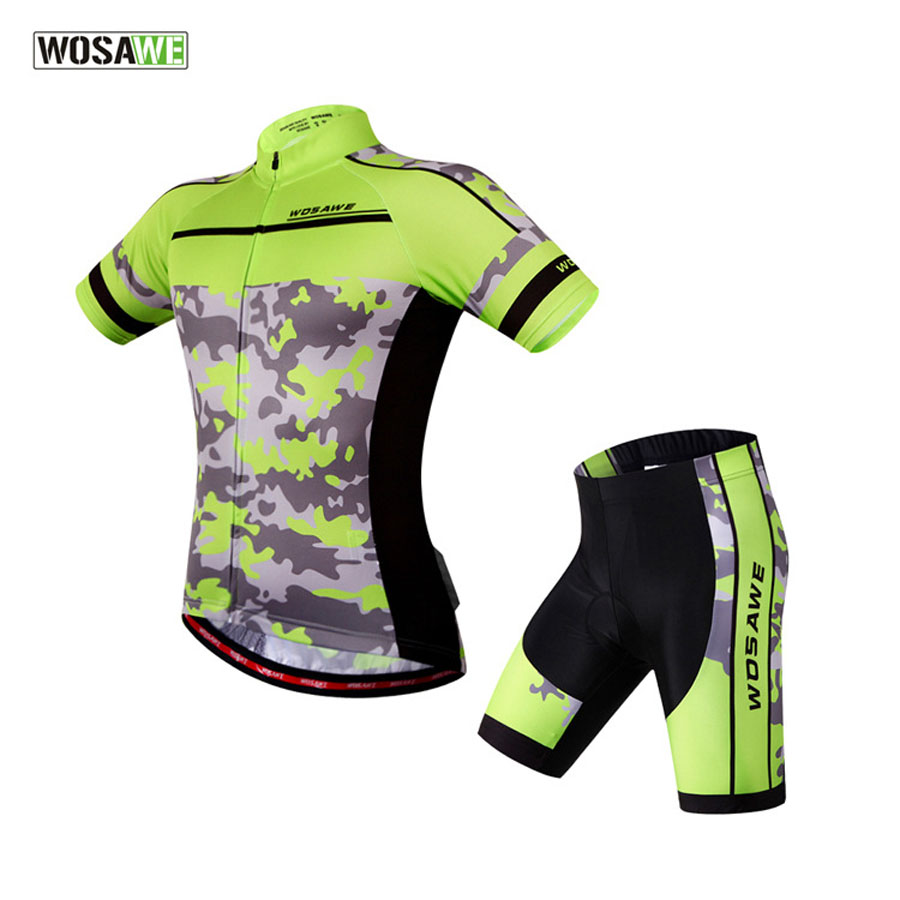 New 2017 WOSAWE Cycling Jerseys Bike Shorts Set Ropa Ciclismo Quick Dry Summer Team Pro Cycling Wear Mens Bicycle Clothing new arrived 2016 team uniform factory oem hockey jerseys embroidery mens tackle twill usa canada czech republic australia