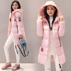 Parka kobiety 2019 kurtka zimowa kobiety płaszcz z kapturem znosić kobiet Parka gruba bawełna wyściełane podszewka zima kobiet podstawowe płaszcze Z30 2