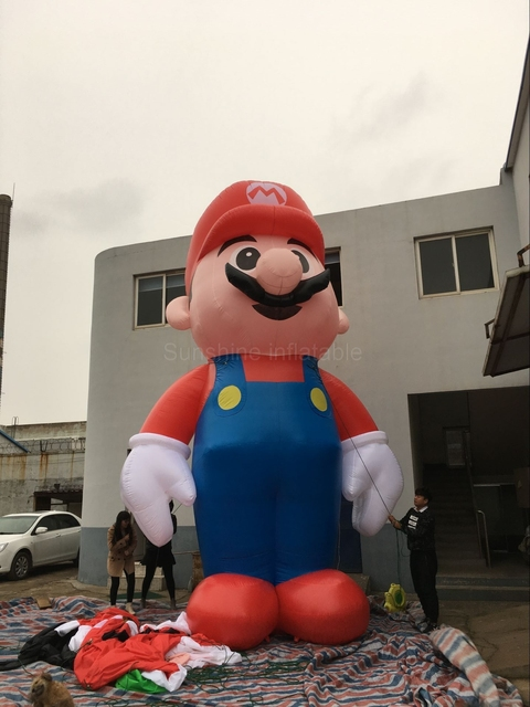 Good Quality Custom Giant Inflatable Super Mario Cartoon For Christmas Decoration