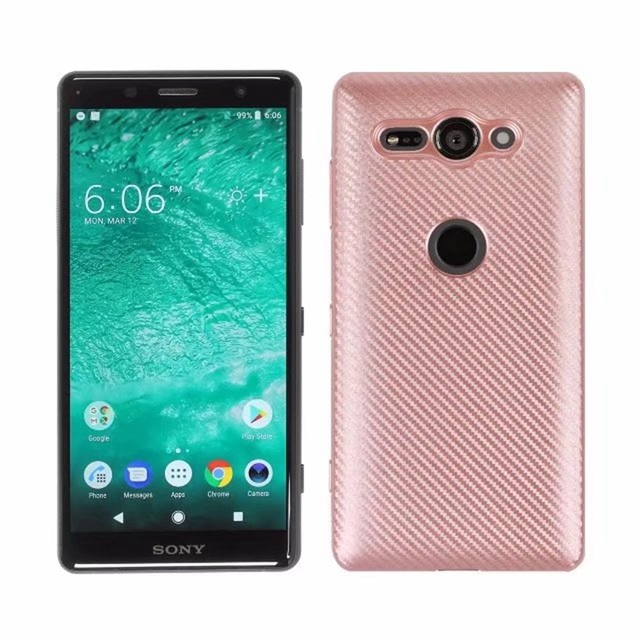 separation shoes 68cd9 698e1 US $4.73 5% OFF|For Sony Xperia XZ2 Compact / XZ2Compact Case Carbon Fiber  Case Hard Carbon Fiber TPU Back Soft Rubber Silicone Phone Cover Case-in ...