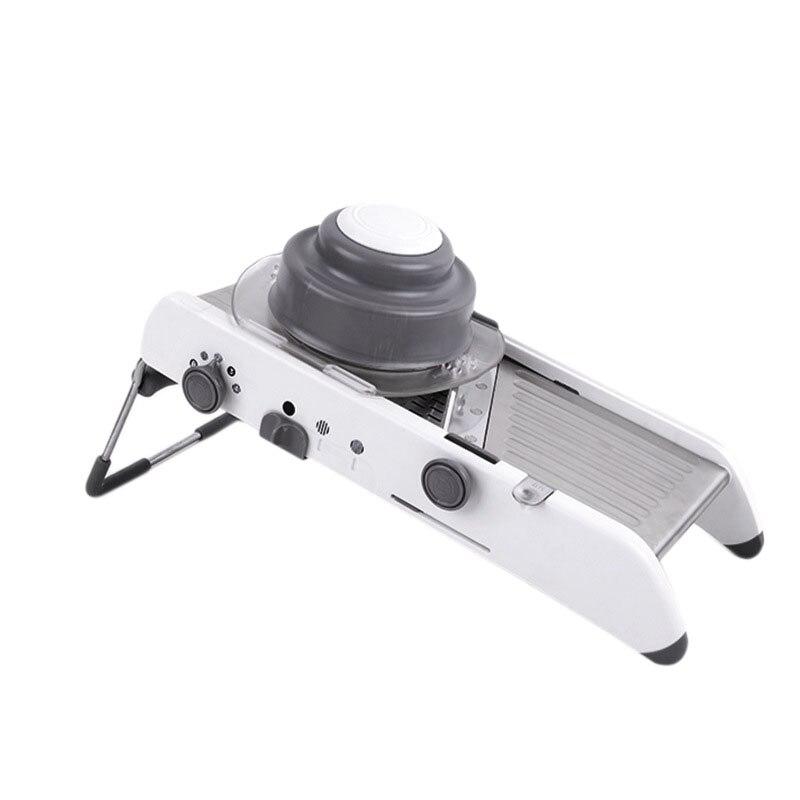 Ev Aletleri'ten Elektrikli Soyma Aletleri'de Eas rf system manuel profesyonel değirmeni paslanmaz çelik sebze dilimleyici mutfak aracı çok fonksiyonlu ayarlanabilir sebze kesme makinası