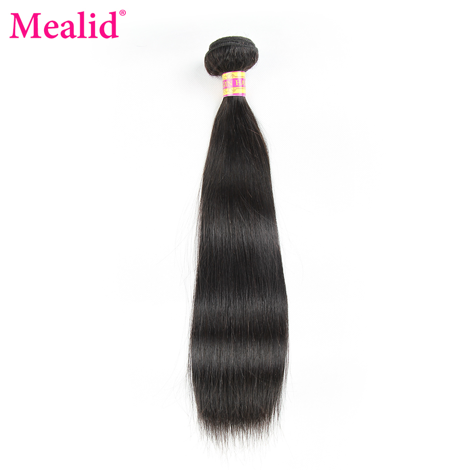 ФОТО [Mealid] Brazilian Virgin Hair Straight Natural Color 14