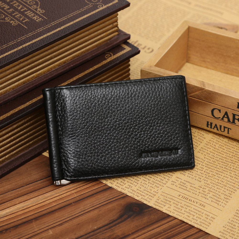 bolsa de couro macio masculino Function : Man Wallet With Card Slotes, money Clip Organizer Wallet