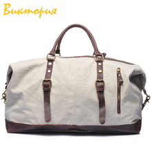 CHARAS brand high quality canvas Travel bag /luggage men 's Duffle Multifunction High capacity zipper Storage handbags