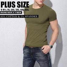 Short Sleeve t-shirt long stapled cotton t-shirt men Brand Design summer mens fitness t-shirts fashion brand t shirt 5XL