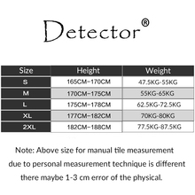 Detector Men's Compression Shirts Bodybuilding Skin Tight Long Sleeves Jerseys Clothings Exercise Workout Fitness Sportswear