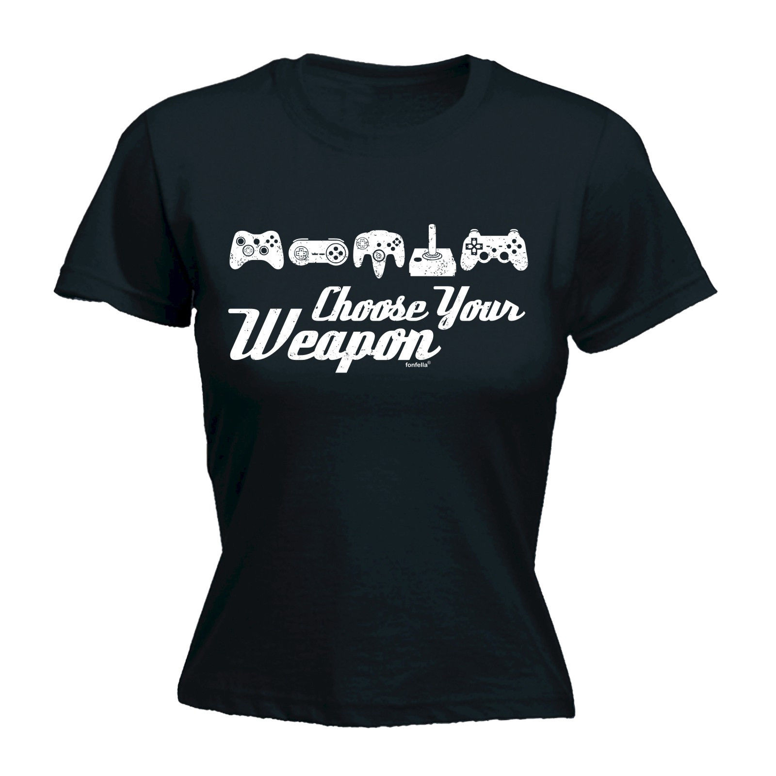 Choose Your Weapon Game WOMENS T-SHIRT Mothers Day Video Game Gamer Funny Gift Print WomenS T Shirt Punk 100% Cotton ...