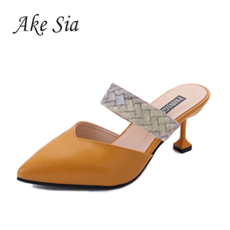 HTB1k2saAf9TBuNjy0Fcq6zeiFXar 2019 Sandalias femeninas high heels Autumn Flock pointed sandals sexy high heels female summer shoes Female sandals mujer s040