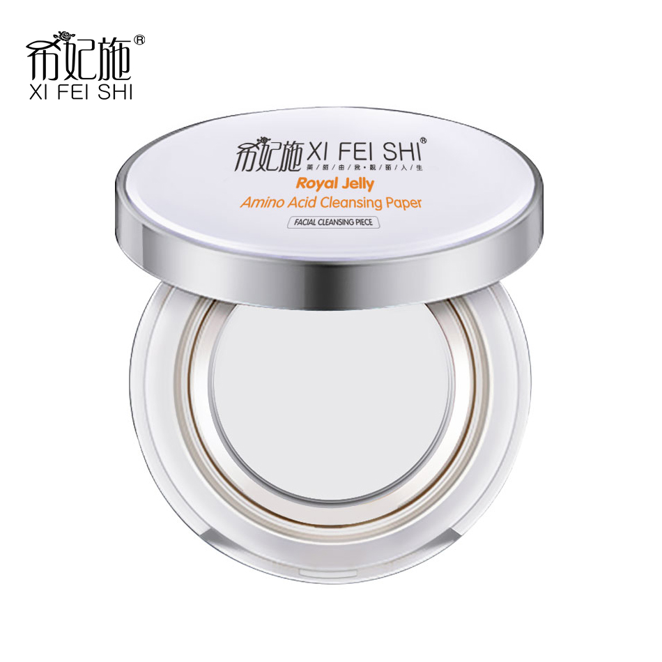 50 50pcs Quick Makeup Remover Royal Jelly Amino Acid Cleaning Paper for Makeup Remover Cleansing Moisturizer Three in one F06 in Makeup Remover from Beauty Health