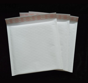 Image 4 - 100pcs/lot Wholesale Kraft Bubble Mailers Padded Envelopes Packaging Shipping Bags White Bubble Mailing Envelope Bags