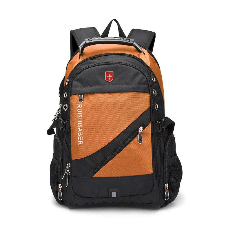Oxford Swiss 17 pouces sac à dos pour ordinateur portable hommes USB charge imperméable voyage femmes sac à dos mâle Vintage sac d'école mochila