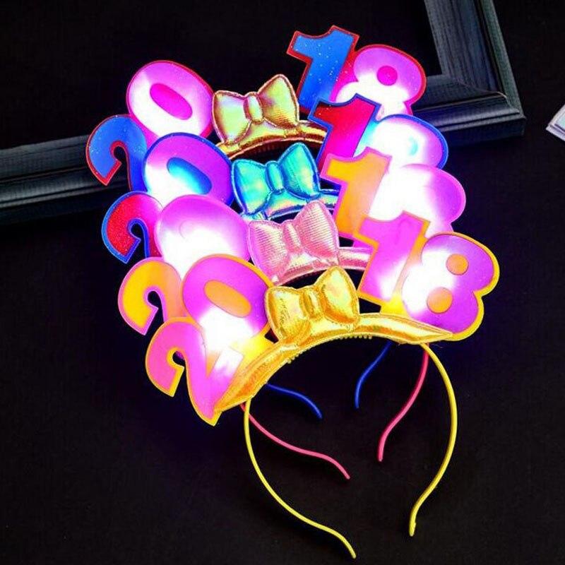 480pcs 2018 Happy New Year LED Light Up Blinking Headband ...