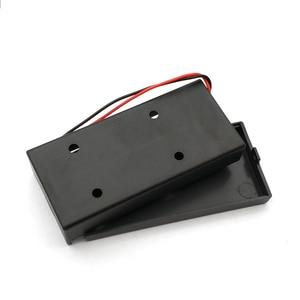 Image 3 - Caja de almacenamiento de batería de plástico negro 18650, 3,7 V, 2x18650, contenedor con 2 ranuras, interruptor de encendido/apagado, novedad