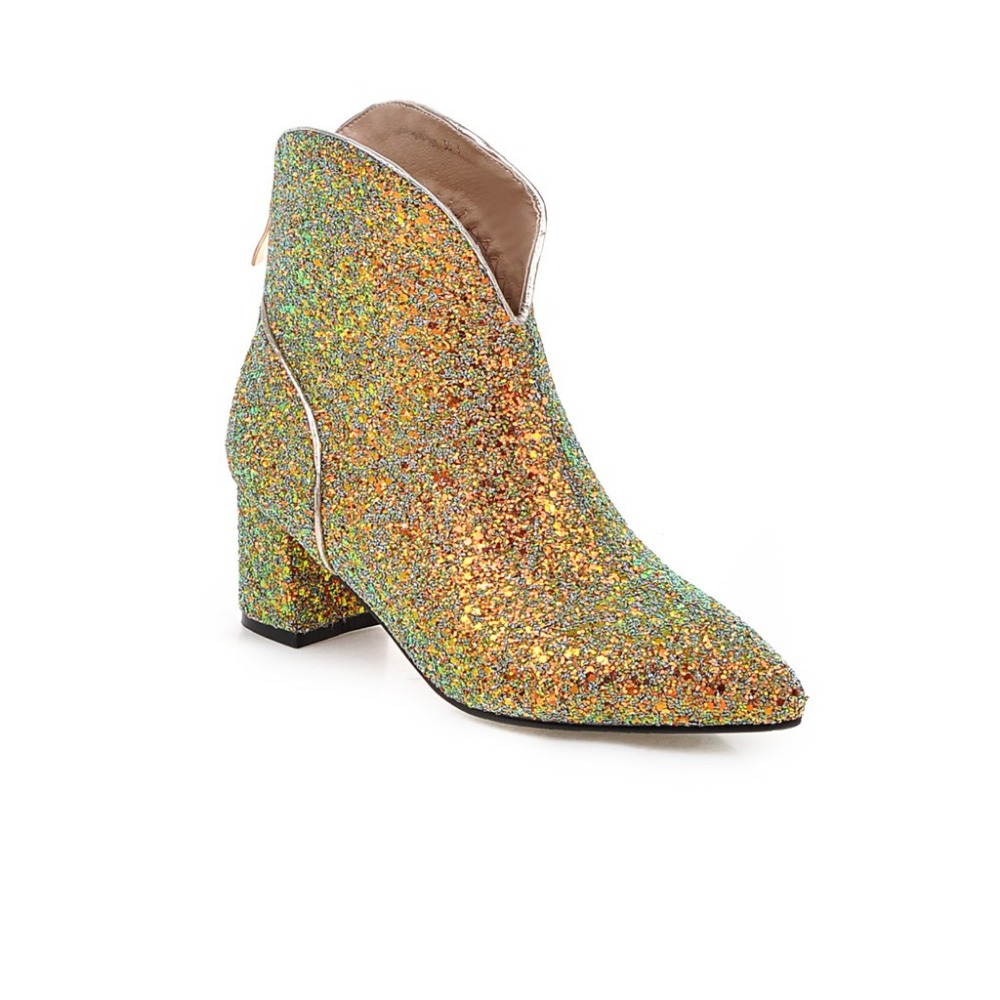Online Buy Wholesale gold leather boots from China gold leather ...
