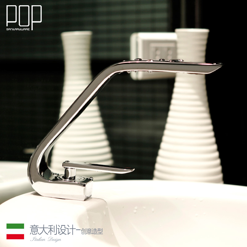 POP Modern Bathroom Lavatory Sink Faucet, contemporary brass vanity faucet Chrome and Oil Brushed Bronze Basin Mixer water tap new solid brass bathroom lavatory sink pop up drain with overflow chrome finish bathroom parts faucet accessories drainer