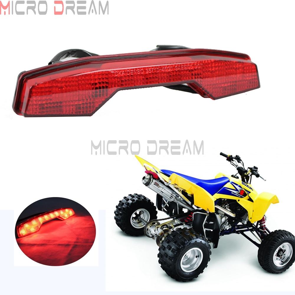 1 pièces ATV Quadsport en plastique frein à LED feu arrière pour Suzuki LTR 450 LTR450 rouge Stop feu arrière