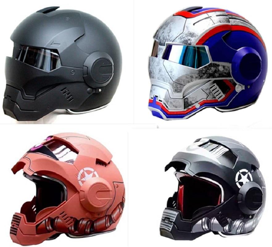 Máquina de Guerra Cinza das mulheres Dos Homens do Homem De Ferro IRONMAN Masei capacete da motocicleta capacete metade capacete aberto da cara do capacete ABS capacete de motocross