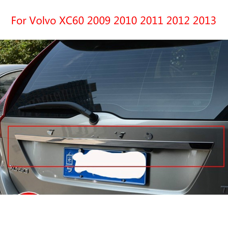 For Volvo XC60 2009 2010 2011 2012 2013  High-quality Stainless Steel Rear Trunk Lid Cover Trim  Car-styling Car-covers