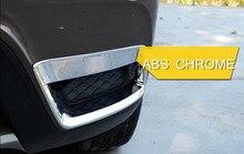 ABS Chrome Esterno Anteriore Della Lampada Della Nebbia Della Luce Decorativa Trim 2 pz Lucido PER BMW X3 F25 2011 2012 2013