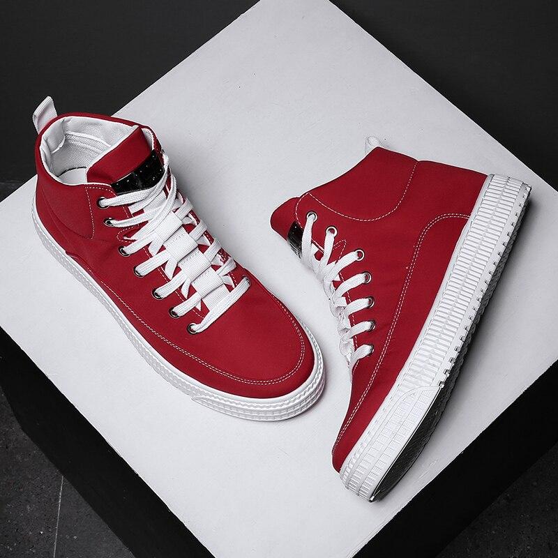 Gris Sport Pour Marque Casual High gray Marche Luxe red Origine Hommes À Top 2018 Toile De L'usure Chaussures Résistant Black Rouge xYCOgpqw