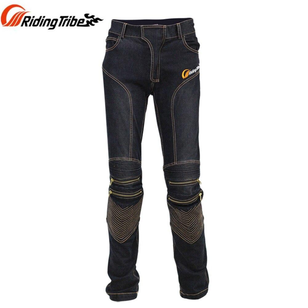 Riding Tribe font b Men b font font b Jeans b font Racing Motorcycle Protective Pants
