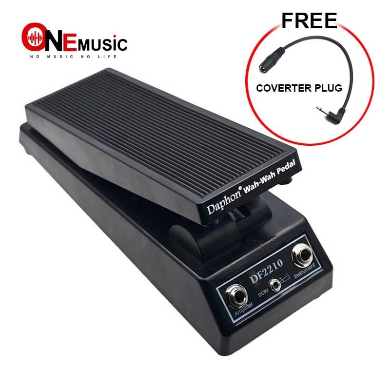 NEW Daphon DF2210 Guitar Wah Wah Pedal For Electric Guitar Players DJ Free Pedal Power Converter Plug(5.5 To 3.5)