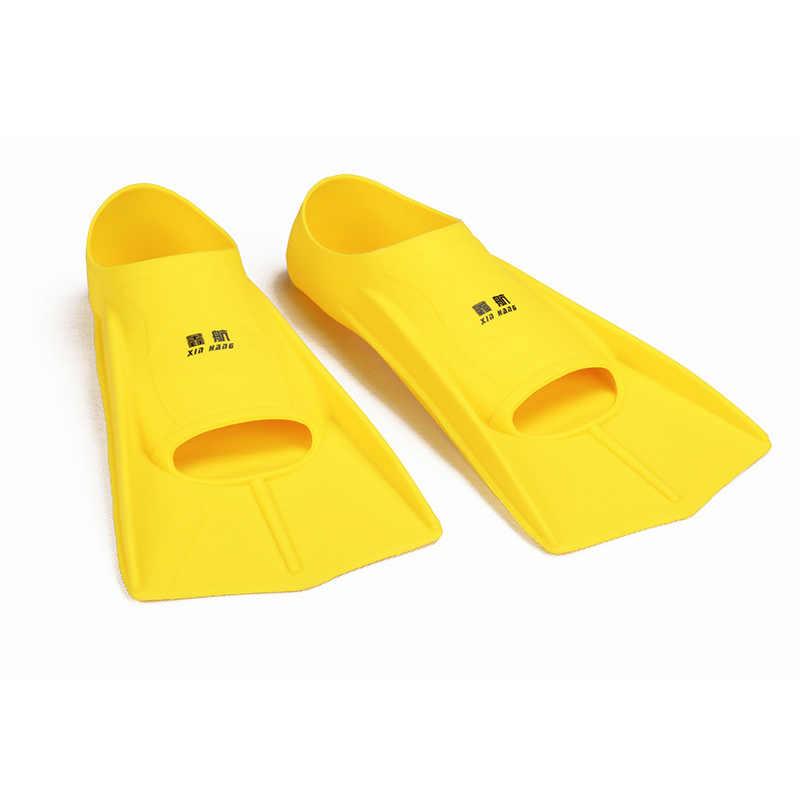 Çift Yüzme yüzgeçleri silikon Şnorkel Dalış Yüzgeçleri Dalgıç Ayak Erkekler Kadınlar Çocuklar Eğitim Palet esnek Dalgıç ayakkabı