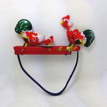 Antique tin toy Wind up toys metal craft robot /car/train collection Photography props xmas gift chicken eat rice