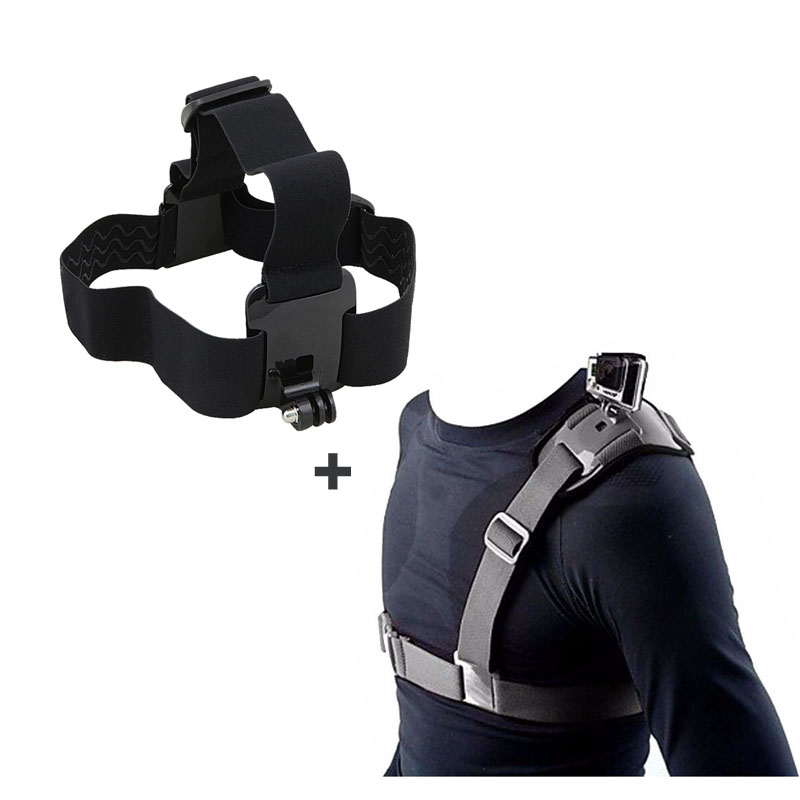 Head Strap Accessories Set for Gopro Hero 5 4 3 Single Shoulder Strap Mount for Go pro HD SJCAM SJ4000 Xiaomi Yi EKEN H9 H9R Cam axle cam swaybar holder set pro 3 hpi a405