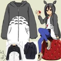 Fashion Warmth Men Women Anime Pokemon My Neighbor Totoro Hoodies Plush Coat Cosplay Costume Sweatshirts Jacket High Quality.