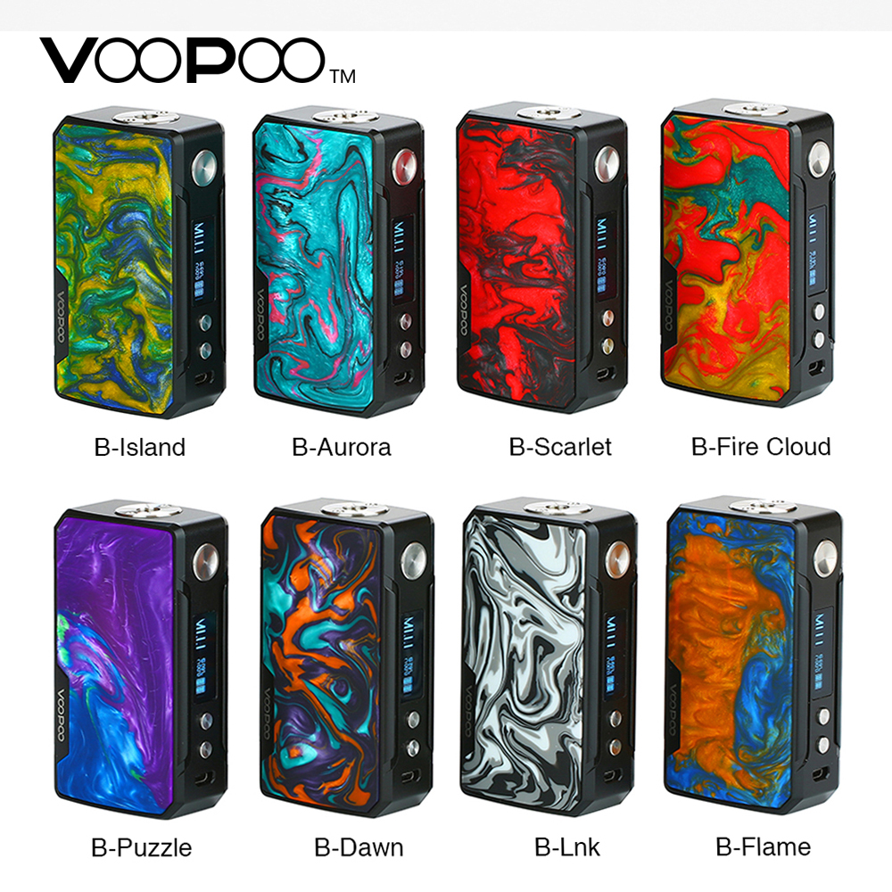 Original VOOPOO arrastrar 2 Caja Mod No 18650 batería Vape Mod 177 W potente de la salida cigarrillo electrónico DRAG Mod Vs arrastre Shogun/Univ
