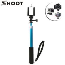 SHOOT Portable 30cm-98cm Aluminum Monopod Extendable Selfie Stick for Gopro Hero 5 3 4 Session SJCAM SJ4000 SJ5000 Xiaoyi 4K