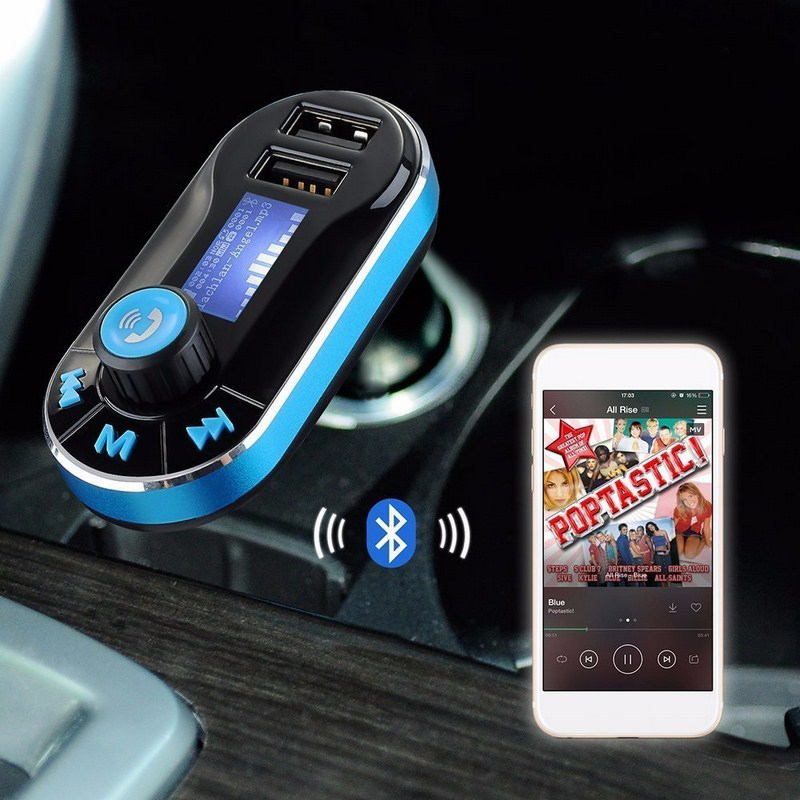Bluetooth Car FM Transmitter Supports Dual USB SD AUX Auto MP3 Player For Smartphone Charging Built in Microphone-in Car MP3 Players from Automobiles & Motorcycles