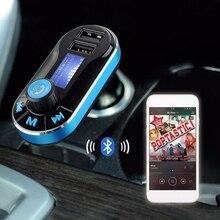 Samochodowy nadajnik FM Bluetooth obsługuje podwójny odtwarzacz USB SD AUX Auto MP3 do ładowania smartfona wbudowany mikrofon