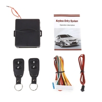 Universal Portable Car Automobile Lock Locking Vehicle Keyless Entry System Power Window Switch With Remote Controllers