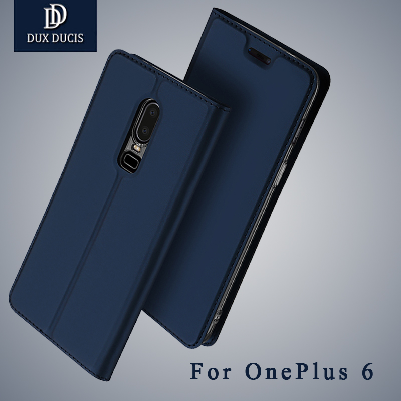 DUX DUCIS For Oneplus 6 Case Luxury Leather Case for OnePlus 6T Wallet Flip Cover for