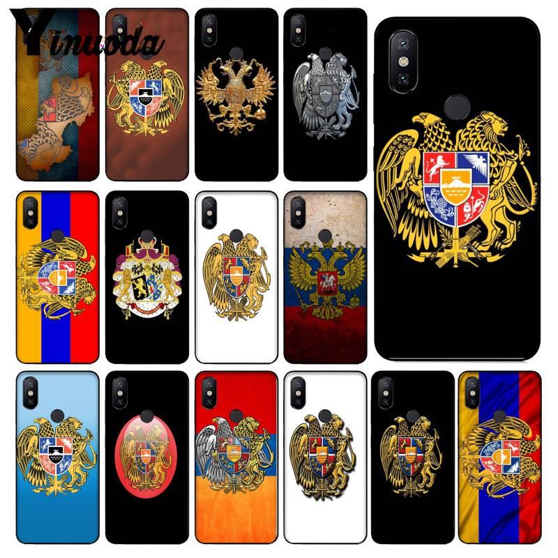 Yinuoda Armenia Albania Russia flag Emblem coat of arms Popular Cover for Redmi Note5 4X Xiaomi MI6 MI 8SE MIX2 NOTE3 emblem