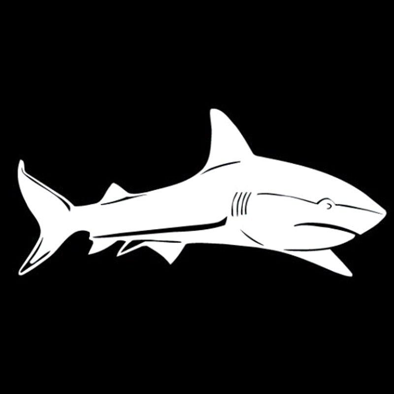Adesivo per auto piccola confezione animali squalo doppio pesce Adesivi JAS ST00059/_SML
