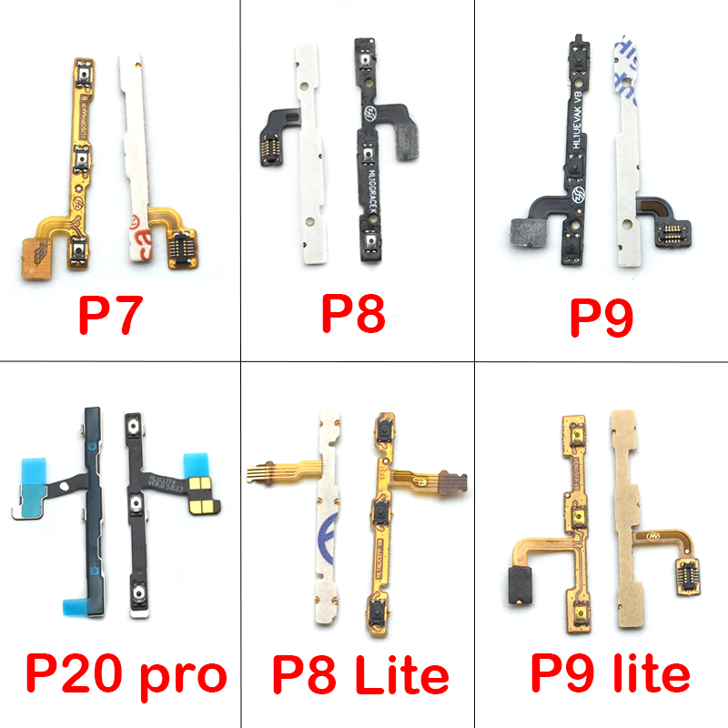 Replacement Parts Power On Off Volume Up Down Button Key Flex Cable For Huawei P7 P8 P9 P10 P20 Lite Pro Mate 8 10 Nova 2s 3 3i