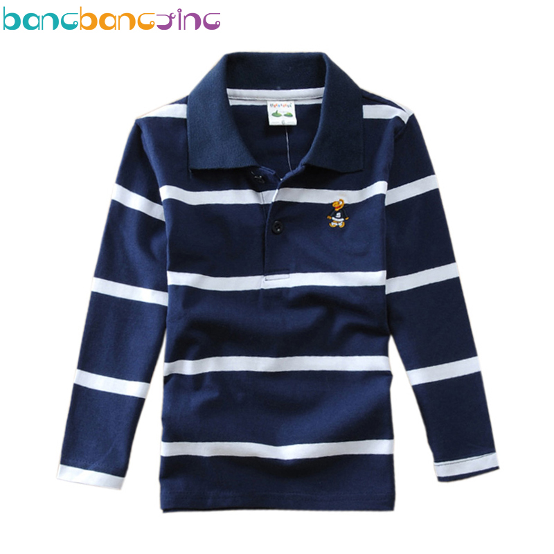 Brand Long sleeve Polo Shirts for Boys Cotton Stripe Kids polo shirt pattern Boys School Uniform Teenager Boy Clothes Age 3T-15 children s polo shirts 2018 spring autumn long sleeve striped kids boys cotton lapel polo shirt for child 2 15 years boy clothes