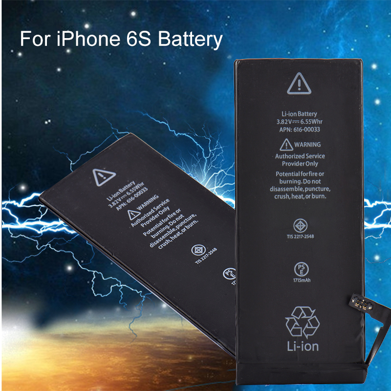 Replacement Cellphones Lithium-Battery for 6S 1715mah with Flex-Cable Built-In