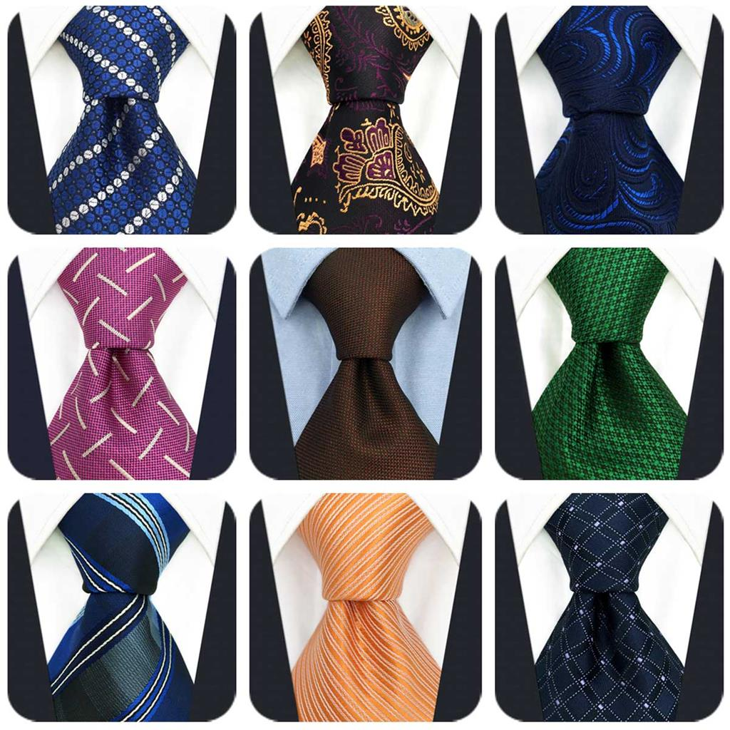 Paisley Ties For Men Fashion Accessory Business Neckties Geometric Wedding Colorful For Suit Jacket