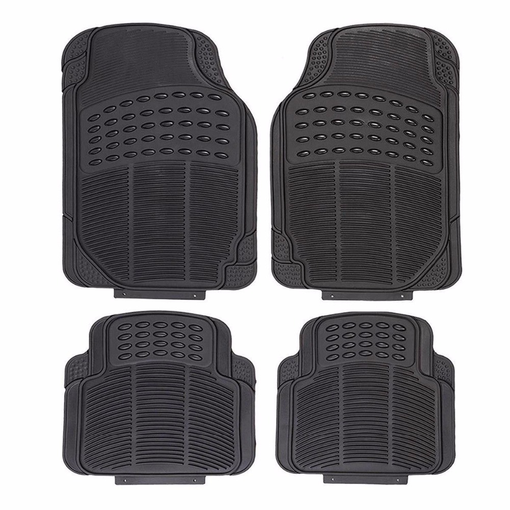 Rubber floor mats for jaguar xf - Heavy Duty All Weather Rubber Black Mat 4 Pc Pads Car Floor Mats Front Rear At3743